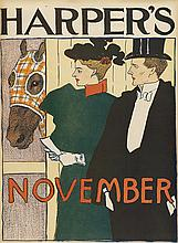 EDWARD PENFIELD (1866-1925). HARPER'S NOVEMBER. 1895. 15x11 inches, 40x29 cm.