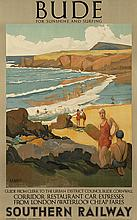 A.R. BAKER (DATES UNKNOWN). BUDE. 1935. 39x25 inches, 101x63 cm. Sanders Phillips & Co., Ltd., The Baynard Press, [London.]