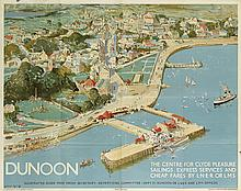 WILLIAM LEE HANKEY (1869-1952). DUNOON. Circa 1930. 40x50 inches, 101x127 cm. McCorquodale & Co. Ltd., London.