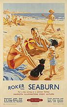 ALFRED LAMBART (1902-1970). ROKER AND SEABURN. 1953. 40x25 inches, 101x63 cm. Jordison and Co. Ltd, London.
