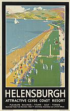 TEMPLETON (DATES UNKNOWN). HELENSBURGH. Circa 1930. 40x25 inches, 101x65 cm. Ben Johnson & Co., Ltd., York.