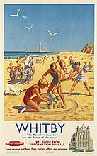 LANCE CATTERMOLE (1898-1992). WHITBY. 1956. 45x25 inches, 114x63 cm. Stafford & Co., Ltd., Nottingham.