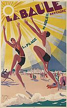 MAURICE LAURO (1878-?). LA BAULE. 1930. 38x24 inches, 98x61 cm. Hachard, Paris.