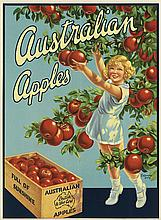F. KENWOOD GILES (DATES UNKNOWN). AUSTRALIAN APPLES. Circa 1935. 19x14 inches, 50x36 cm.