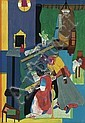 ROMARE BEARDEN (1911 - 1988) Homage to Mary Lou.