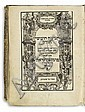 BIBLE IN HEBREW   Hamisha Humshei Torah [Megillot, Nevi'im Rishonim, Nevi'im Aharonim, Sefer Ketuvim].  4 parts in one vol.  1595