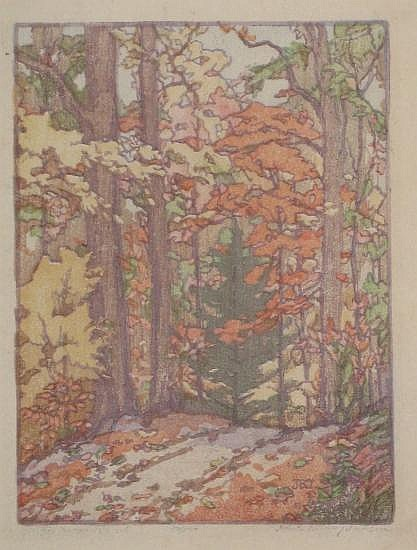 AMERICAN PRINTMAKERS Group of 4 color woodcuts.