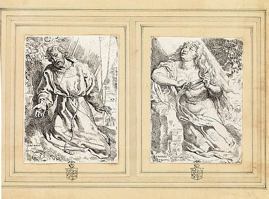 WILLEM BUYTEWECH (after Rubens) Two etchings