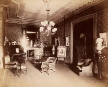 (BROOKLYN, NY) b.j. smith, architectural photographer An album with 7 photographs depicting interior views of the residence of W.H. Nic