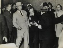 JACKSON, ROBERT H. (1934- ) Jack Ruby shoots Lee Harvey Oswald.