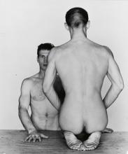 LYNES, GEORGE PLATT (1905-1955) Two male nude figures.