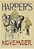 EDWARD PENFIELD (1866-1925). HARPER'S NOVEMBER. 1893. 17x12 inches, 45x32 cm.