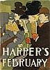 EDWARD PENFIELD (1866-1925). HARPER'S FEBRUARY. 1897. 19x13 inches, 48x35 cm.