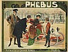 DESIGNER UNKNOWN. PHEBUS. Circa 1900. 38x50 inches, 97x128 cm. Marechal, Paris.