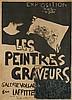 PIERRE BONNARD (1867-1947). LES PEINTRES GRAVEURS. 1895. 25x19 inches, 65x48 cm. A. Clot, [Paris.]