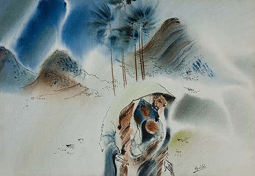 WILLIAM E. PAJAUD (1925 -   ) Holy Family.