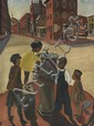 ALLAN ROHAN CRITE (1910 - 2007) Douglass Square.