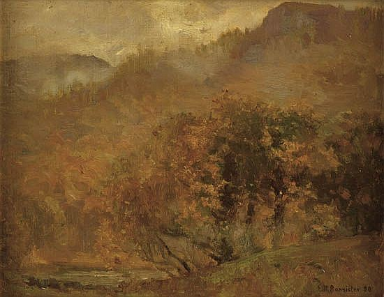 EDWARD M. BANNISTER (1828 - 1901) Untitled (Autumn Landscape).