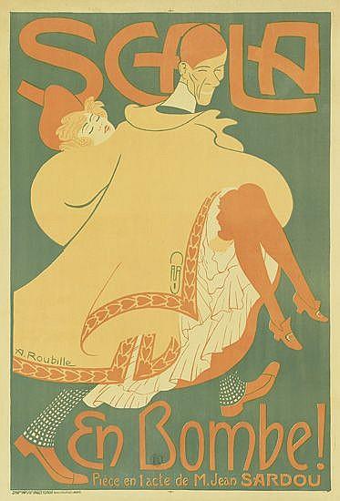 AUGUSTE ROUBILLE (1872-1955). SCALA EN BOMBE! 1903. 46x31 inches, 116x79 cm. Charles Verneau, Paris.