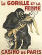 CHARLES FELIX GIR (1883-1941). LE GORILLE ET LA FEMME / CASINO DE PARIS. 1925. 61x46 inches, 156x116 cm. H. Chachoin, Paris.