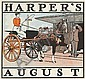 EDWARD PENFIELD (1866-1925). HARPER'S AUGUST. 1899. 11x12 inches, 28x30 cm.