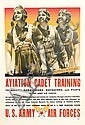 DESIGNER UNKNOWN. AVIATION CADET TRAINING. 1943. 37x25 inches, 96x65 cm.