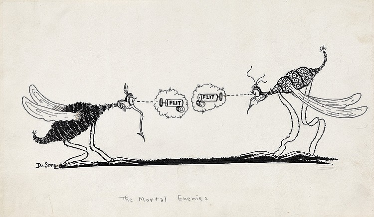 DR. SEUSS [THEODOR GEISEL.] The Mortal Enemies.