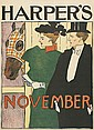 EDWARD PENFIELD (1866-1925). HARPER'S NOVEMBER. 1895. 16x11 inches, 41x30 cm.