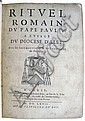 CATHOLIC LITURGY.  Rituel Romain du Pape Paul V. à l'Usage du Diocèse d'Alet.  1667