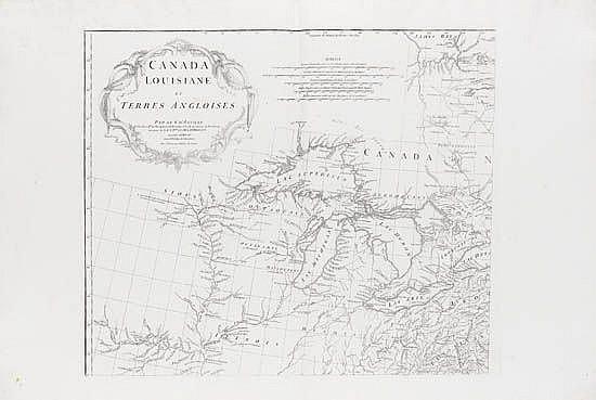 ANVILLE, JEAN BAPTISTE BOURGUIGNON d'. Canada Louisiane et Terres Angloises.