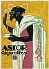 ALBERT HOPPLER (1890-1919). ASTOR CIGARETTES. 1913. 47x33 inches, 119x85 cm. J.C. Muller, Zurich.
