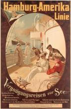 FELIX SCHWORMSTÄDT (1870-1938). HAMBURG - AMERIKA LINIE / VERGNÜGUNGSREISEN ZUR SEE. Circa 1904. 41x26 inches, 105x68 cm. Institute Act