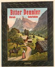 DESIGNER UNKNOWN. BITTER DENNLER. Circa 1900. 35x28 inches, 89x73 cm. Polygraphisches Institut, Zurich.