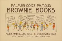 GEORGE R. HALM (1850-1899). PALMER COX'S FAMOUS BROWNIE BOOKS. 1895. 10x15 inches, 25x38 cm. The Century Co., New York.