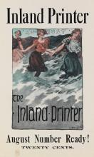 GEORGE HAND WRIGHT (1872-1951). THE INLAND PRINTER. Two posters. Circa 1899. Each approximately 17x10 inches, 43x25 cm.
