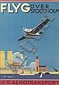 ANDERS BECKMAN (1907-1967). FLYG OVER STOCKHOLM. 1930. 39x26 inches, 99x66 cm. J. Olsens, Stockholm.