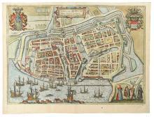 BRAUN, GEORG; and HOGENBERG, FRANZ. Emuda vulgo Embden Urbs Frisiae Orientalis Primaria.