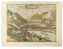 BRAUN, GEORG; and HOGENBERG, FRANZ. Oenipons, sive Enipontus vulgo Insspruct, Tirolensis comtatus urbs amplissima. MDLXXV.