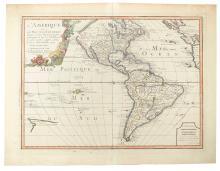 NOLIN, JEAN BAPTISTE. L'Amerique ou le Nouveau Continent Dressee sur les Memoires les Plus Nouveaux.