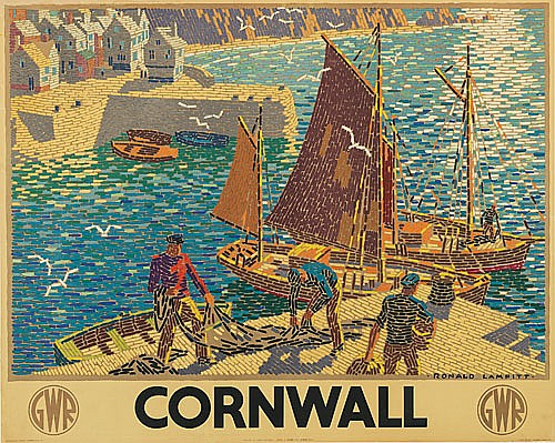 RONALD LAMPITT (DATES UNKNOWN). CORNWALL. 1936. 39x49 inches, 101x125 cm. J. Weiner, London.