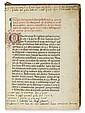 BARTHOLOMAEUS DE CHAIMIS. Confessionale sive Interrogatorium. 1474
