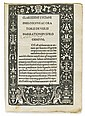 LUCIAN of Samosata; et al. Vera historia [and other texts].  1494