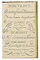 BLEGNY, ÉTIENNE DE. Nouveavx Exemplaires d'Ecriture d'une Beauté Singuliar [sic].  18th century