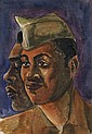 WILLIAM E. SMITH (1913 - 1997) Two Soldiers (Nostalgia).