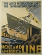 ADRIAAN JOH. VAN' T HOFF (1893-1939). HOLLAND AMERICA LINE. 1928. 42x31 inches, 108x80 cm. Lankhout, The Hague.