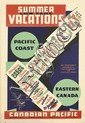 NORMAN FRASER (DATES UNKNOWN). SUMMER VACATIONS / CANADIAN PACIFIC. Circa 1939. 35x24 inches, 91x61 cm.