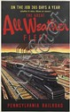 SIGNATURE ILLEGIBLE. THE GREAT ALL WEATHER FLEET / PENNSYLVANIA RAILROAD. Circa 1941. 40x25 inches, 102x63 cm.