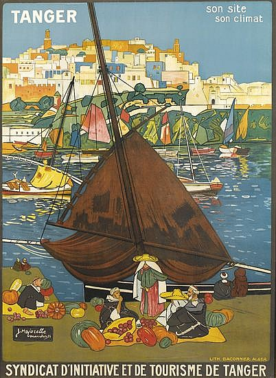 JACQUES MAJORELLE (1886-1962). TANGER / SON SITE / SON CLIMAT. 1924. 40x28 inches, 102x72 cm. Baconnier, Algiers.