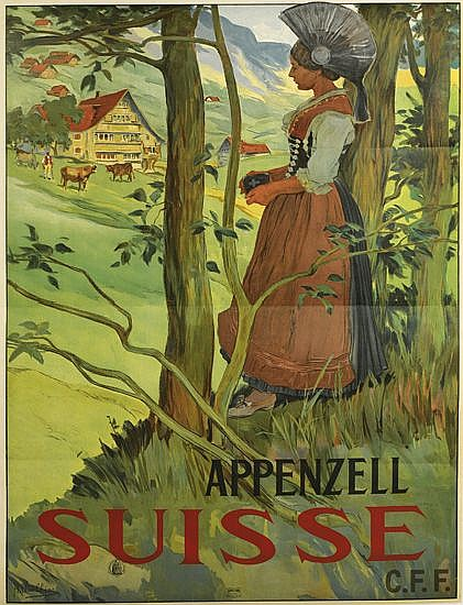 AUGUSTE VIOLLIER (1845-1908). APPENZELL / SUISSE. 1904. 44x32 inches, 112x82 cm. Walter Marty, Herisau.