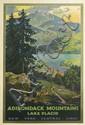 WALTER L. GREENE (1870-1956). ADIRONDACK MOUNTAINS / LAKE PLACID / NEW • YORK • CENTRAL • LINES. Circa 1935. 40x26 inches, 103x68 cm. L